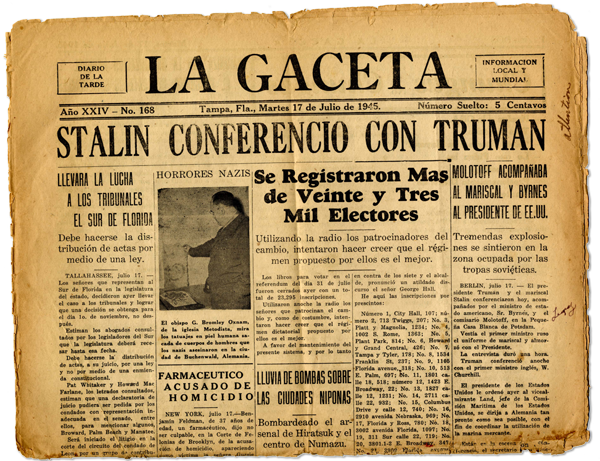 La Gaceta 1945