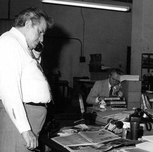 Roland hard at work in 1981